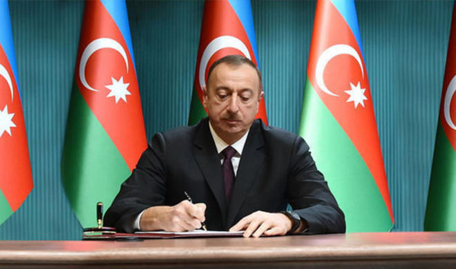 Ilham Aliyev has issued an order
