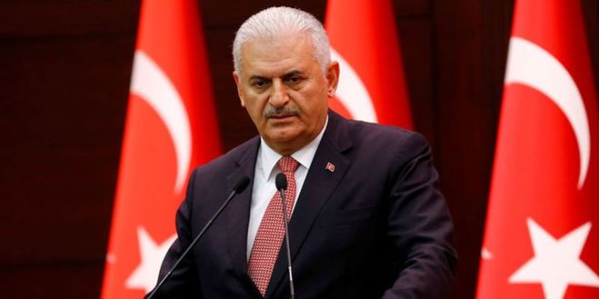 Turkish PM blasts EU parliament motion on Afrin operation
