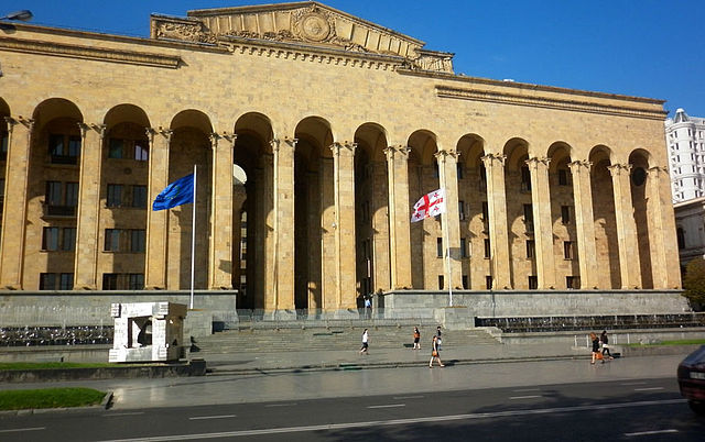 Gürcüstan parlamentində SSRİ himni - Video