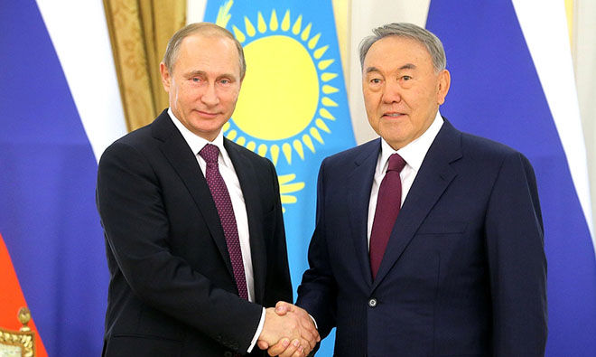 Putin and Nazarbayev discuss Ukrainian settlement
