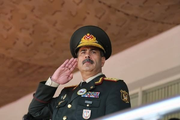 Zakir Hasanov take part in the military parade in Moscow