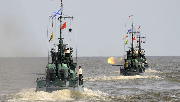 Russia will hold a military parade in the Caspian Sea