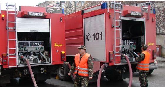Пожар в Баку, есть пострадавшие