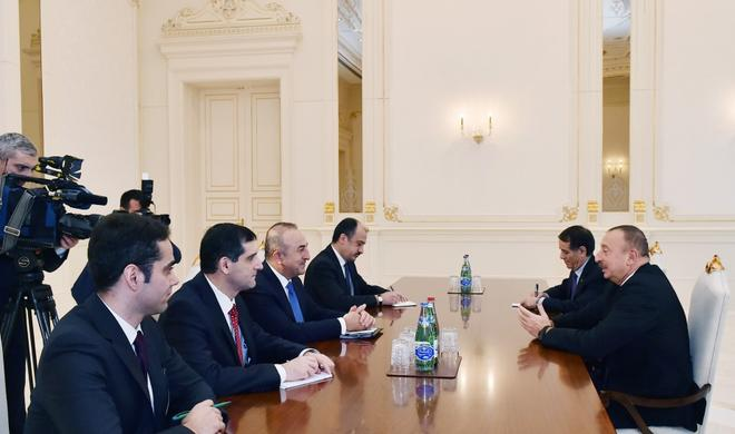 President Ilham Aliyev receives Turkish Foreign Minister -