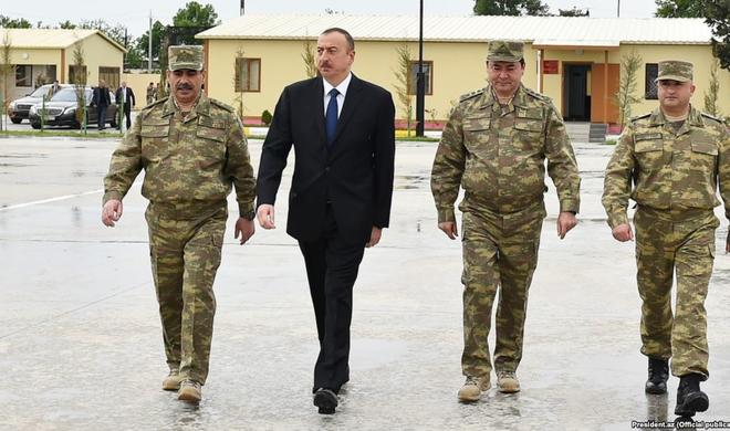 Ilham Aliyev attends inauguration of new military unit