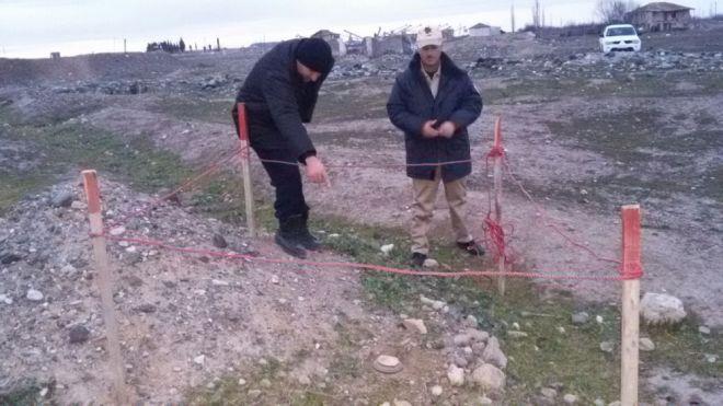 Cocuq Mərcanlıda tank əleyhinə mina tapıldı