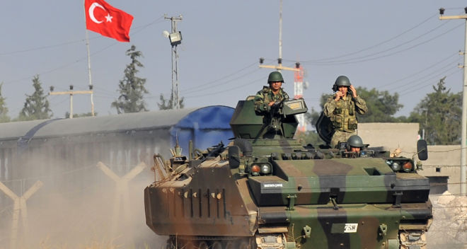 The Turkish army hit northern Iraq
