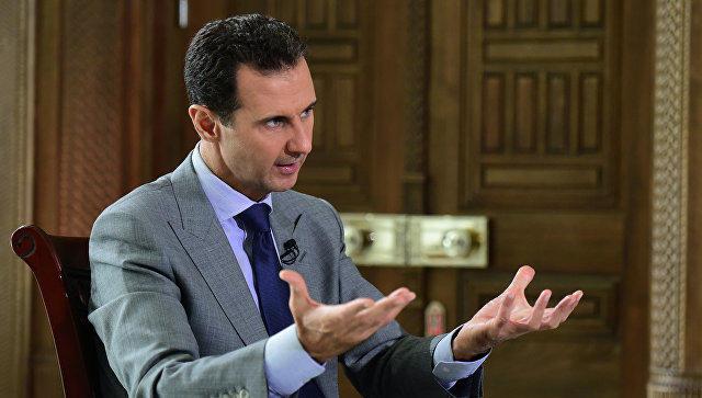 Асад принял российскую делегацию в Дамаске