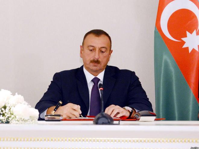 İlham Əliyev D230 bloku ilə bağlı sazişi təsdiqlədi