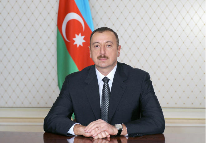 Ilham Aliyev is opening the new center