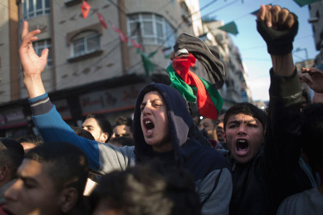 Palestinians in Israel go on strike