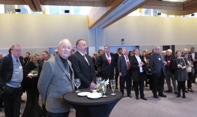 İlham Əliyev Davosda qəbulda iştirak etdi - Foto