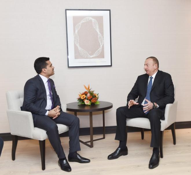 President Ilham Aliyev met with Shamsheer Vayalil
