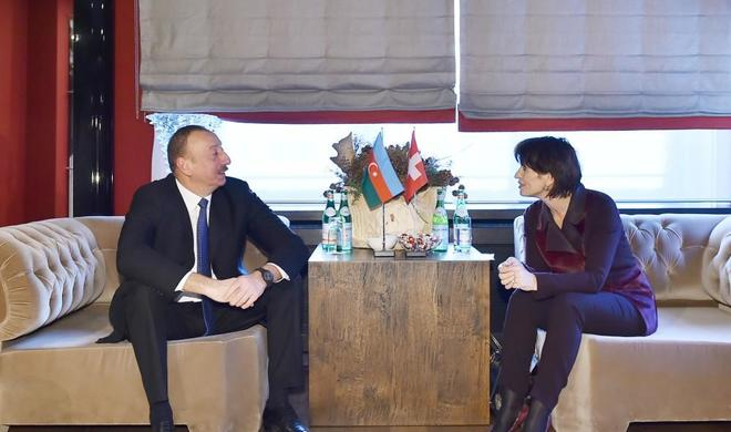 lham Aliyev met with Swiss President -