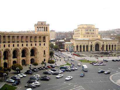 Azerbaijani national anthem was sung in the center of Yerevan -