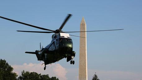 Вертолет Обамы не долетел до Калифорнии
