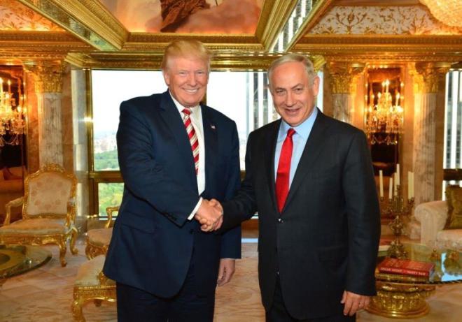 Tramp Netanyahu və rəqibi ilə görüşdü