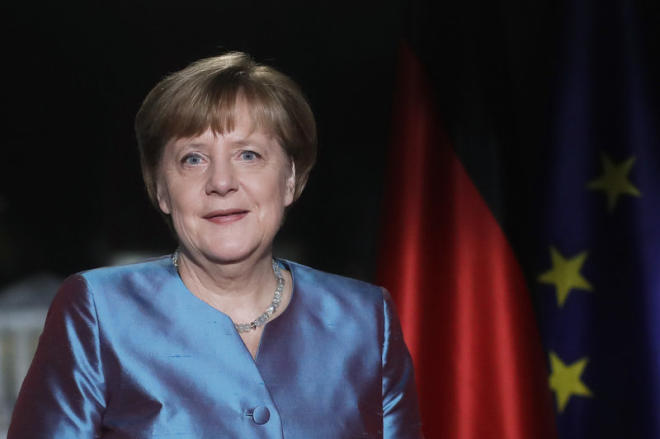 German Chancellor Angela Merkel celebrates her 65th birthday