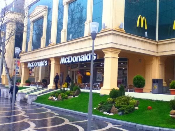 """""""Makdonalds""""dan Azərbaycana dəstək - Foto"""