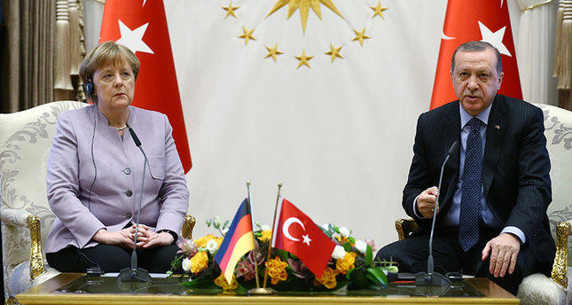 Erdogan spoke with Angela Merkel