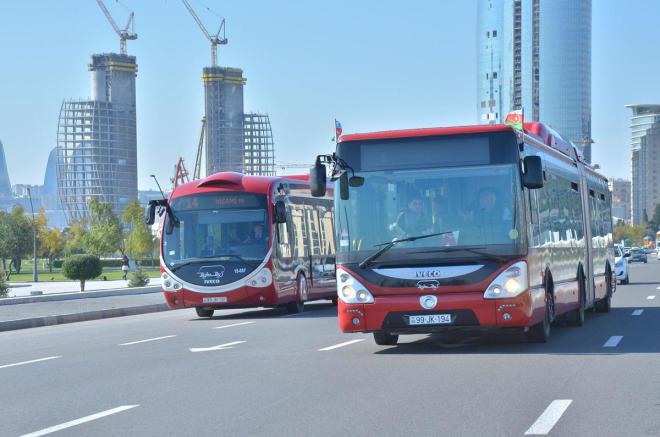 Bakıda bu avtobus xətlərinin iş qrafiki dəyişdirildi
