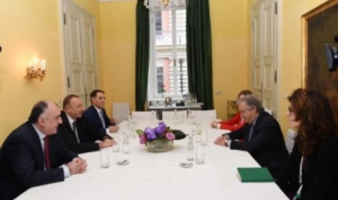 Azerbaijani president meets with Guterres