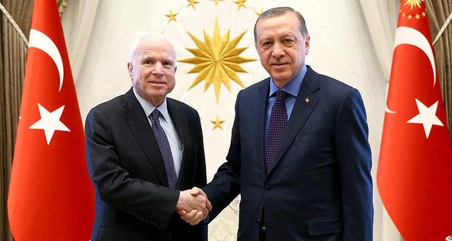 McCain has met President Erdogan, PM Yıldırım