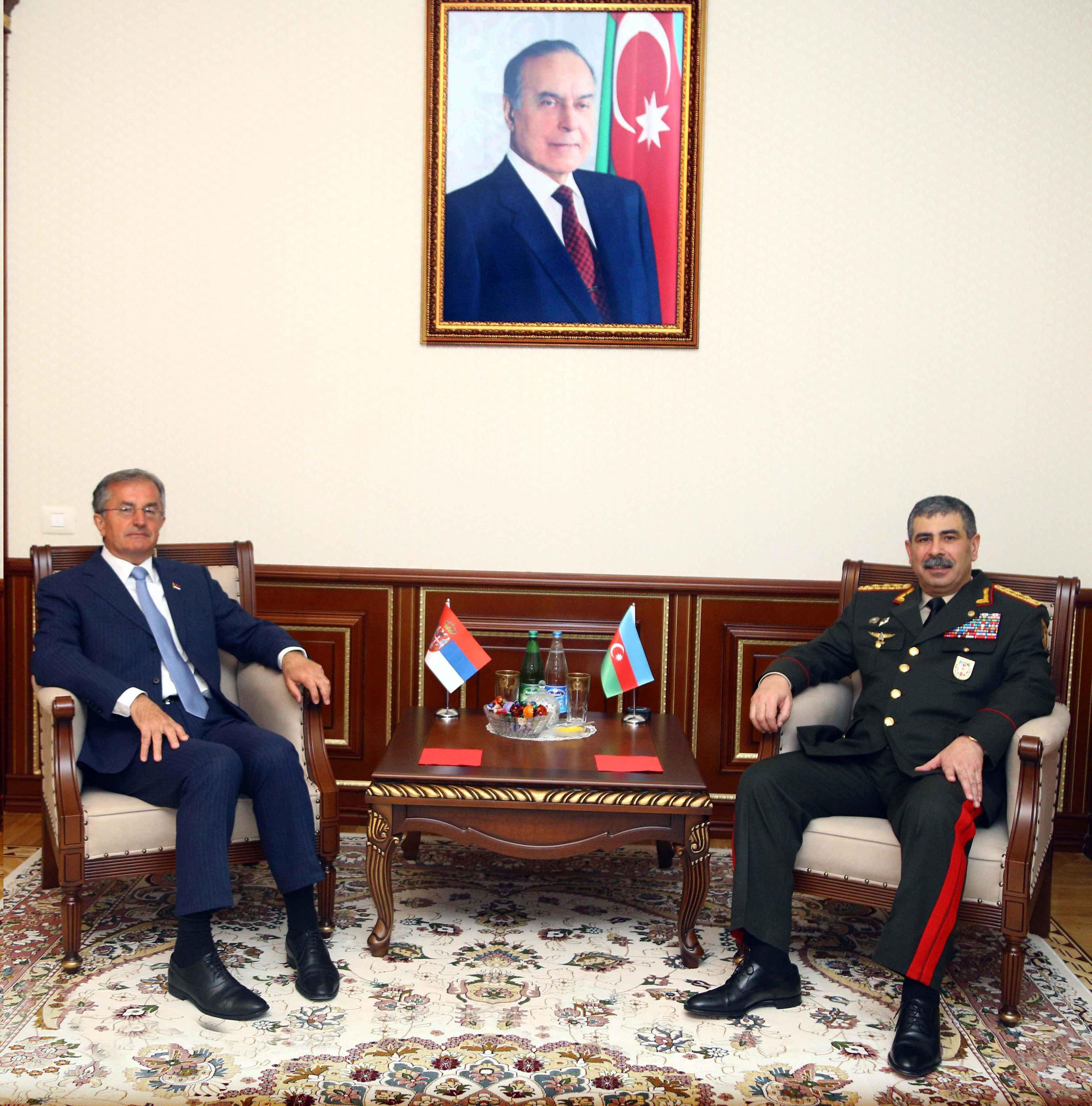 Zakir Hasanov met with Serbian ambassador Nebojsa Rodic