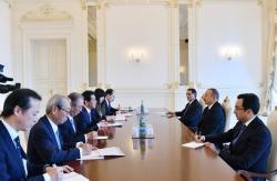 Ильхам Алиев принял министра Японии