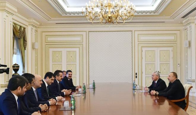 Ильхам Алиев принял делегацию Турции