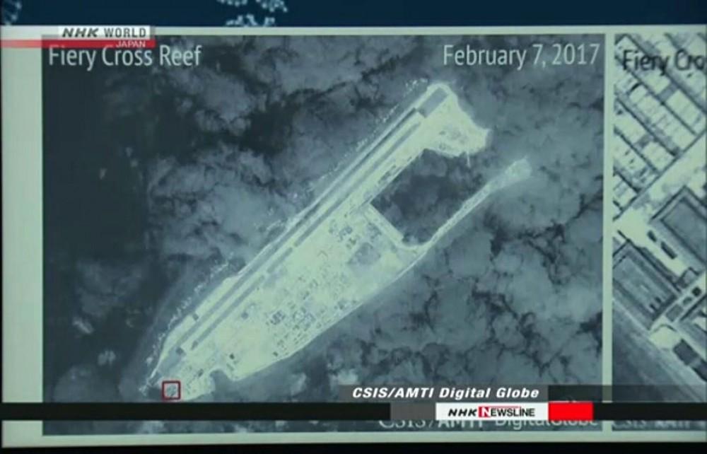 چین موناقیشه بؤلگهسینده حربی اوبیکتلر تیکیبمیش - فوتو