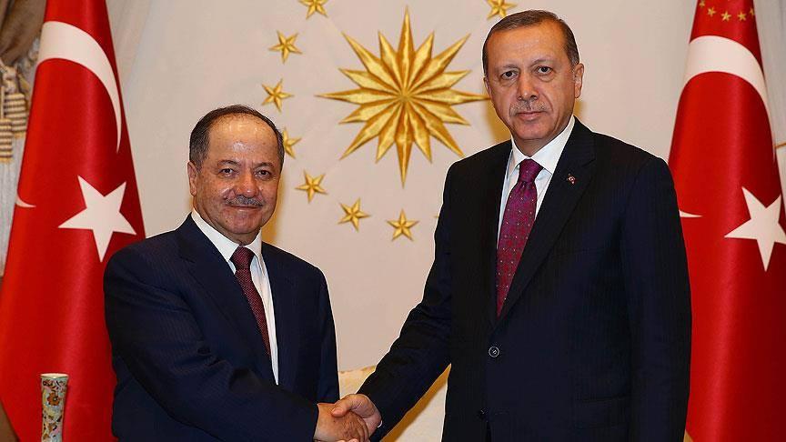اردوغان مسعود بارزانی ایله گؤروشدو