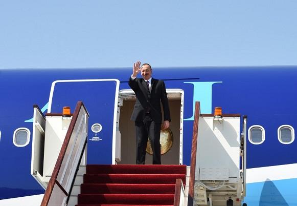 İlham Əliyev artıq Moskvadadır