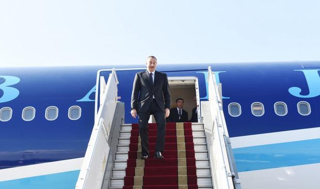 Ilham Aliyev starts an official visit to Turkey -