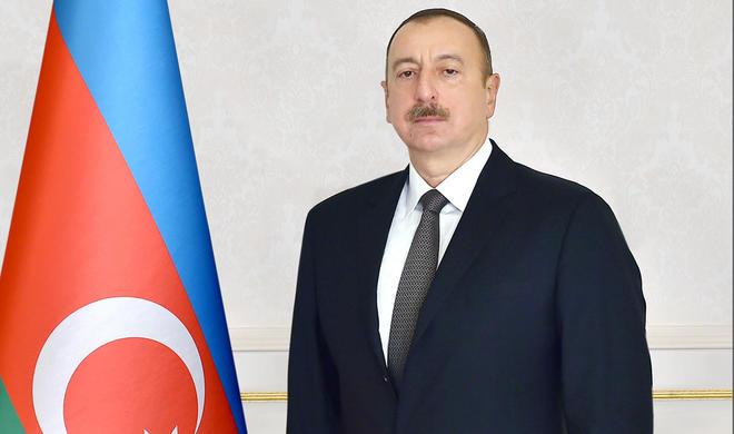 Ilham Aliyev viewed historical oil pit -