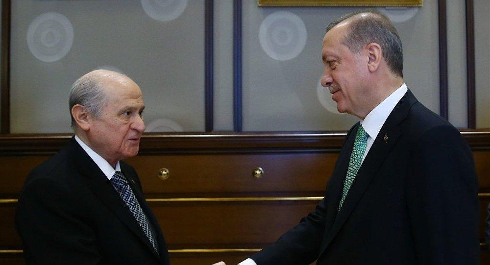 Ərdoğan Dövlət Baxçalı ilə görüşdü