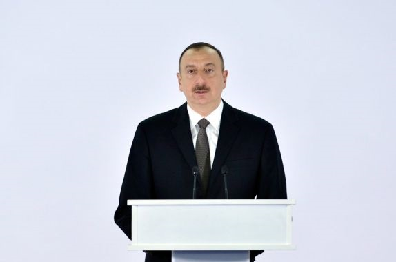 Ilham Aliyev congratulates his Latvian counterpart
