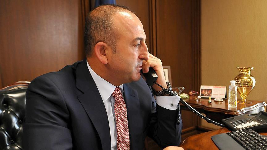 Turkish FM discusses Palestine with UK counterpart