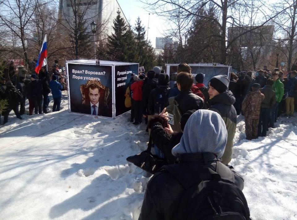 Rusiya qaynayır: Ölkəni mitinqlər bürüdü - Canlı yayım