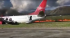 Plane bursts into flames, injured 25 passengers - Video
