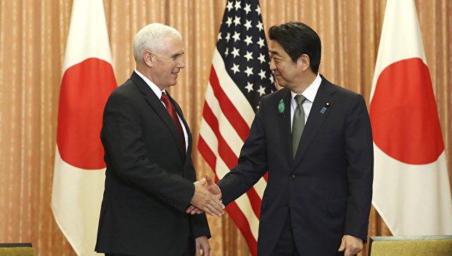 Пенс и Абэ провели переговоры в Токио