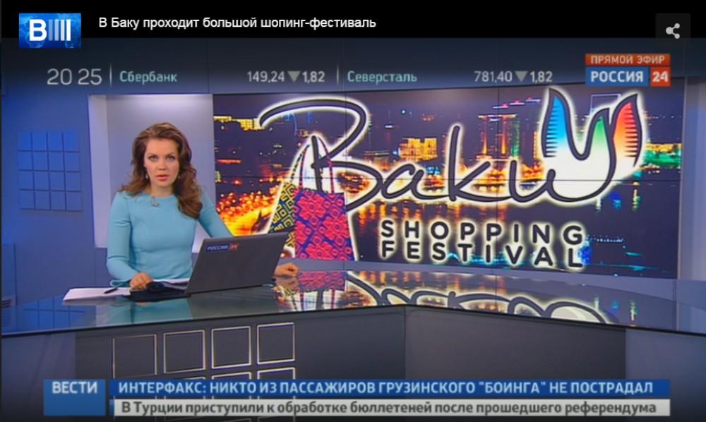 """""""Rossiya-24"""" Bakıdan reportaj hazırladı - Foto"""