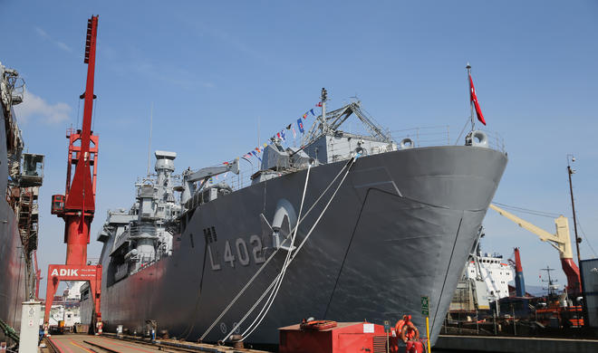 Türkiyə ordusu bu gəmini arsenalına qəbul etdi - Foto