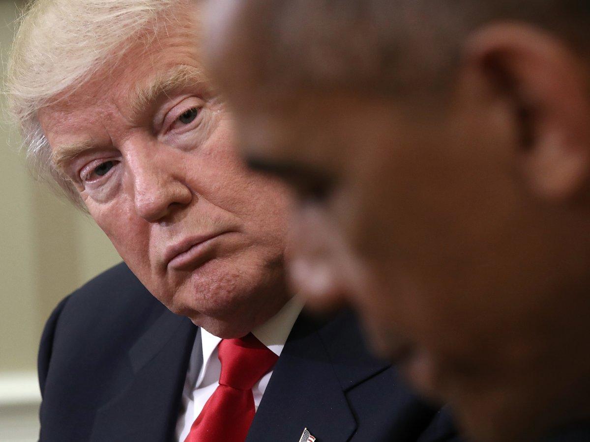 Обама ни разу не вспомнил Трампа