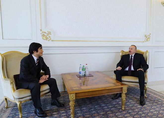 Ilham Aliyev received credentials of Japanese envoy