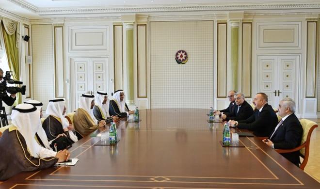 Ilham Aliyev received Arabian minister