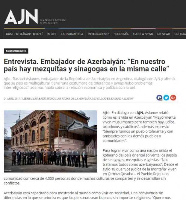 Argentina mediası Azərbaycandan yazdı - Foto
