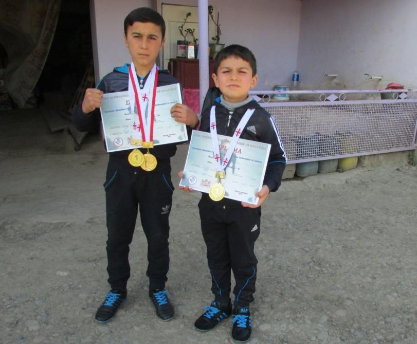 10 yaşlı azərbaycanlı erməni idmançını məğlub etdi - Foto