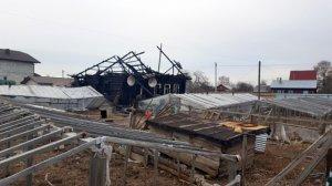 Rusiyada azərbaycanlının evi kül oldu