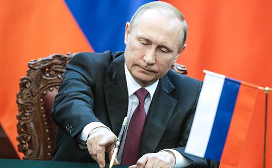 Путин подписал указ о санкциях против Киева